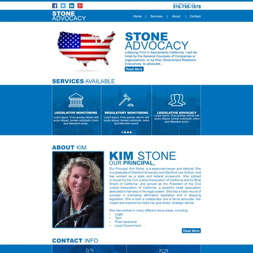 website Design for STONE ADVOCACY
