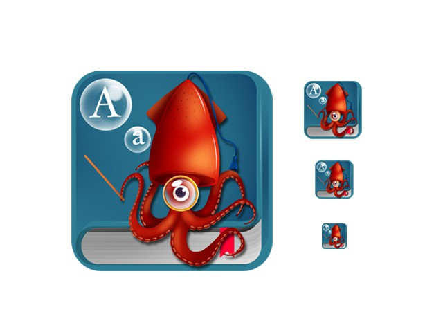 Icon for 'Wordsquid' App for iPhone and iPod touch