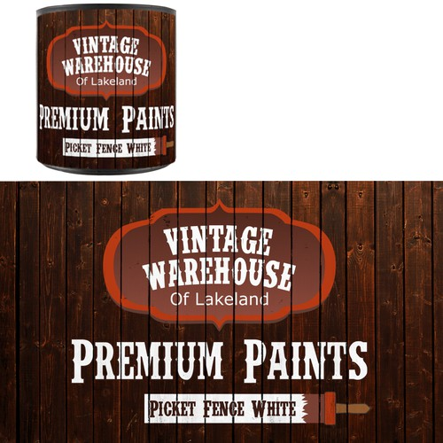 Paint Can Design for Private Paint Line - Dark Wood