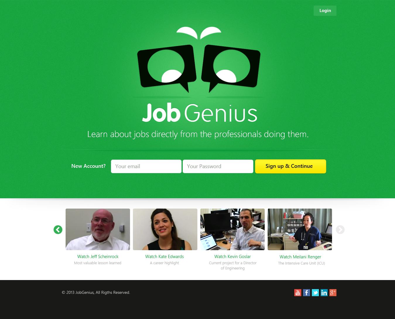 Job Genius needs a new website design