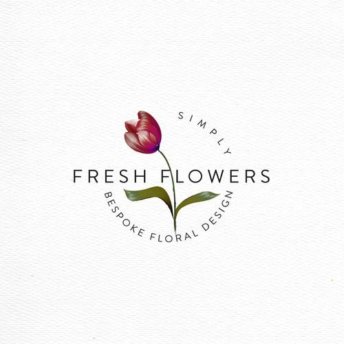 Bespoke floral logo design