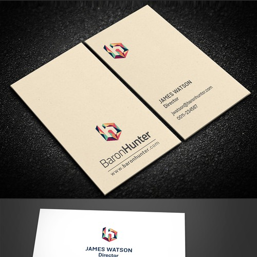 Design creative business cards for a creative consulting company
