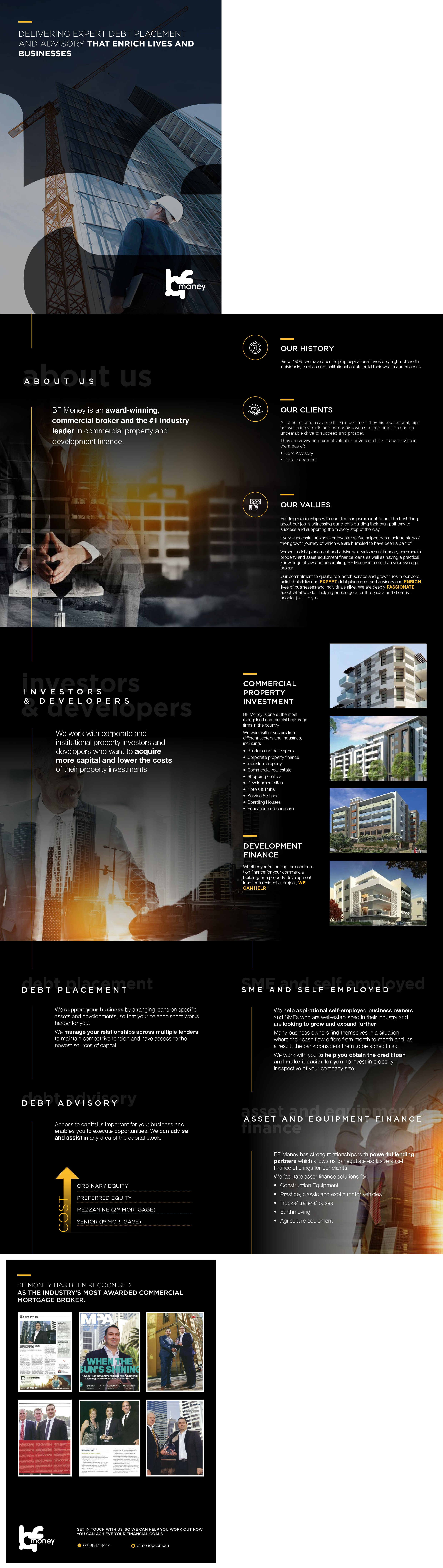 Design a brochure for our ambitious company
