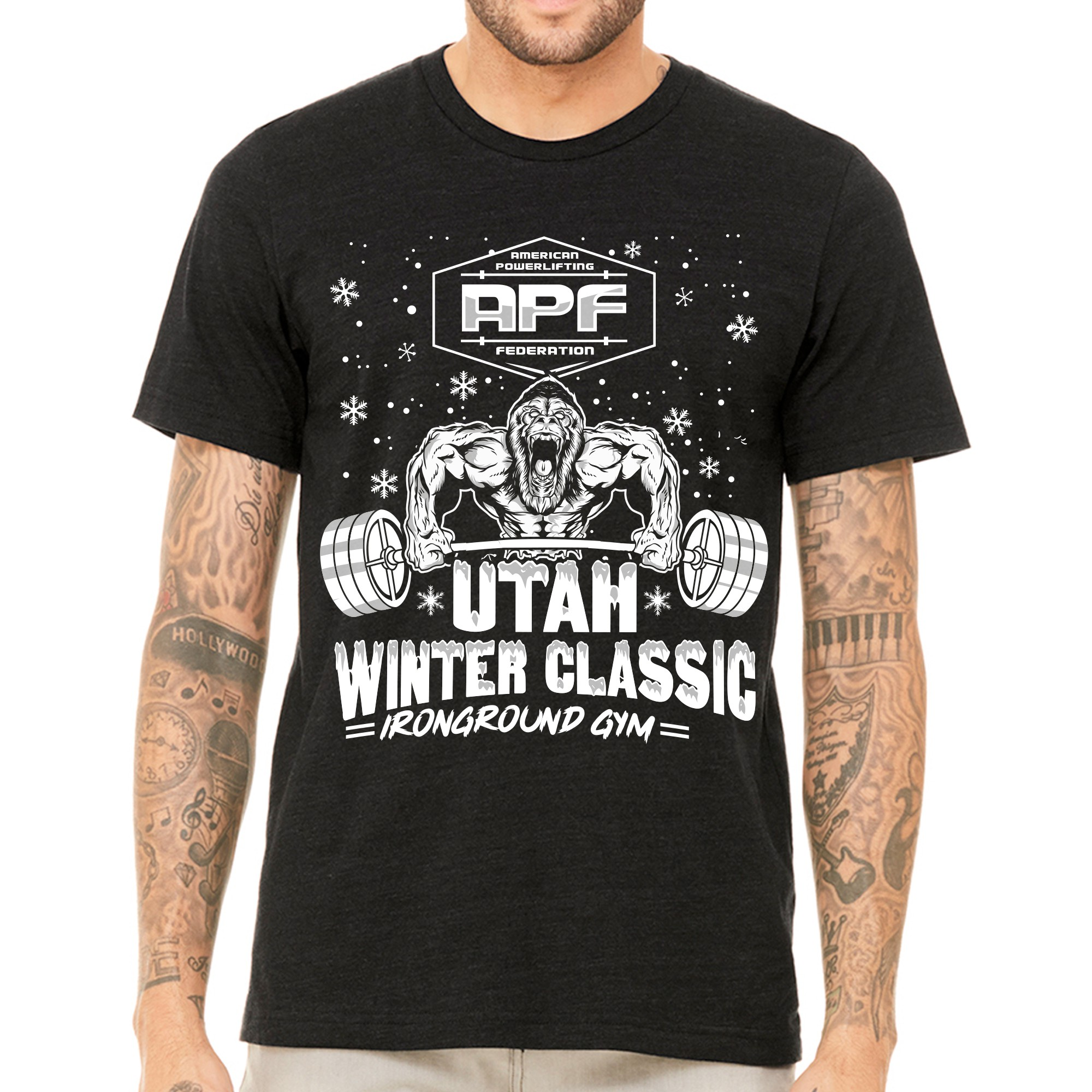 Winter Powerlifting Competition T-Shirt