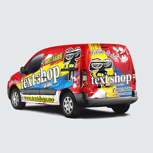 wrapping car TEXT SHOP