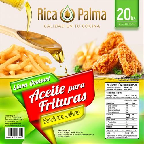 Aceite para Frituras | Rica Palma