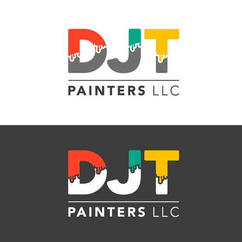 DJT Painters Logo design
