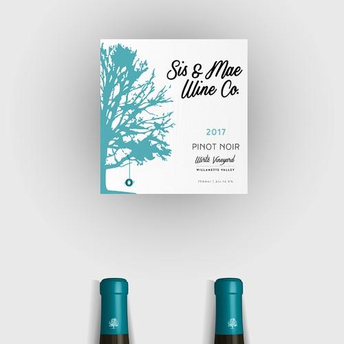 label wine bottle