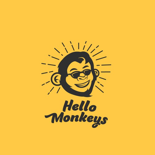 Cool logo for Hello Monkey