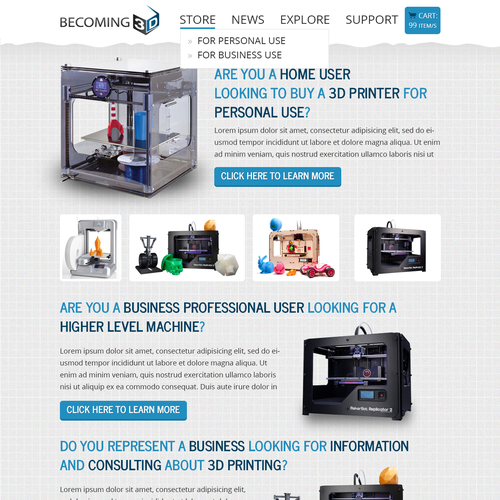 Becoming 3D needs a website design