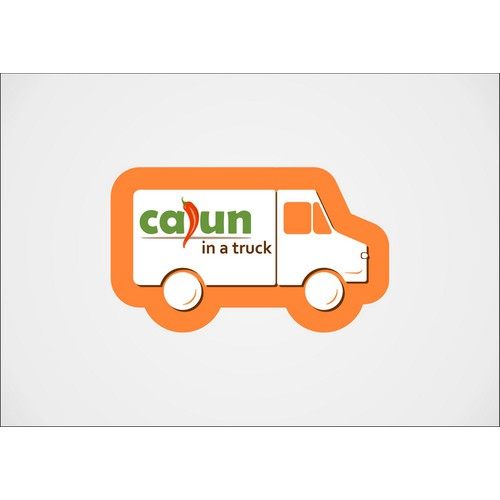 "Logo for Food Truck ""Cajun in a Truck"""