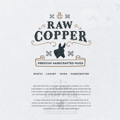 Logo concept for a handcrafted copper mugs seller