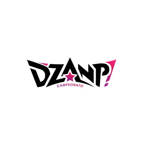 Strenght and youthful logo for D'ZANP! dance studio