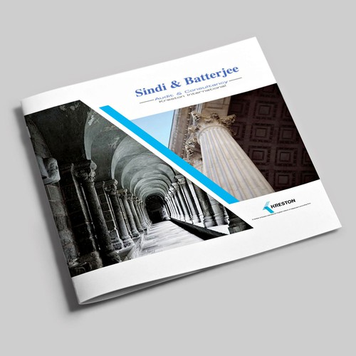 Sophisticated brochure for Sindi & Batterjee, an auditing & consulting firm.