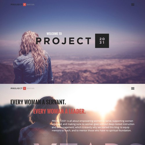 Design concept for a Women's Ministry site