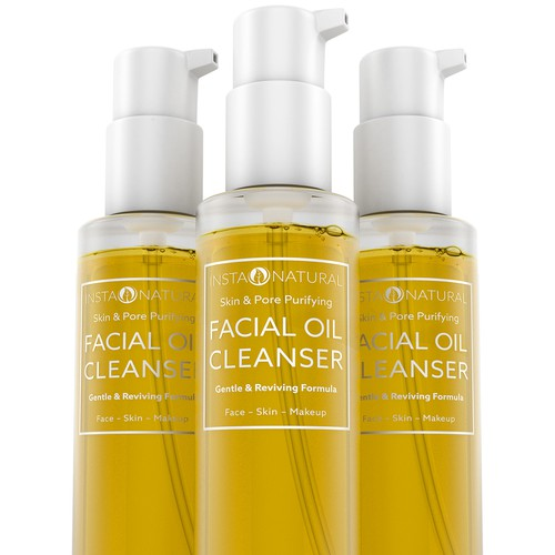 Facial Oil Cleanser 3D Rendering