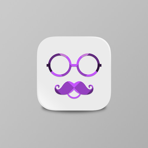 "Create an app icon for anonymous social app for ""The Masq"""