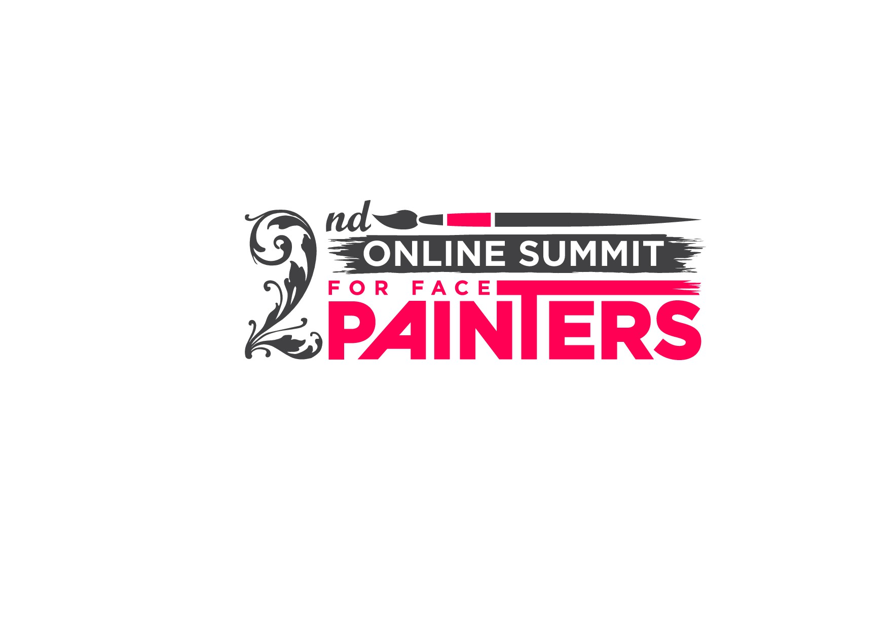 Design a logo for teaching the art of face painting professionally in an online event