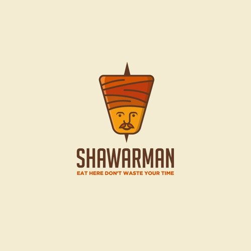 Fun logo for a shawarma fast food