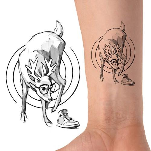 Mr Deer Tattoo