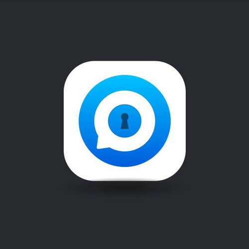 Clean app icon design for Secured Messaging app