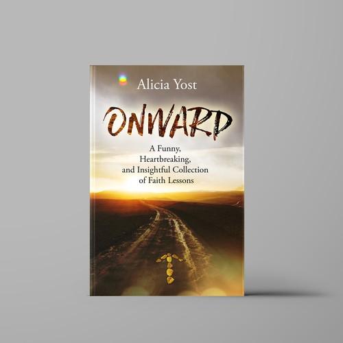 Cover design for book ONWARD