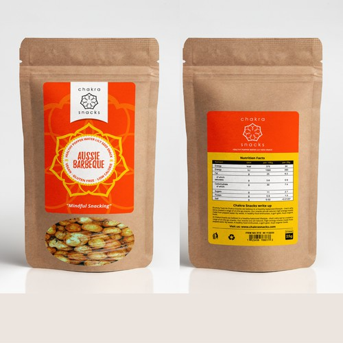 chakra snacks label