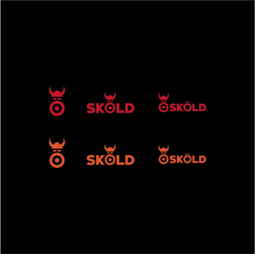 Create a sporty, powerful logo for the orthopedic supports brand Sköld