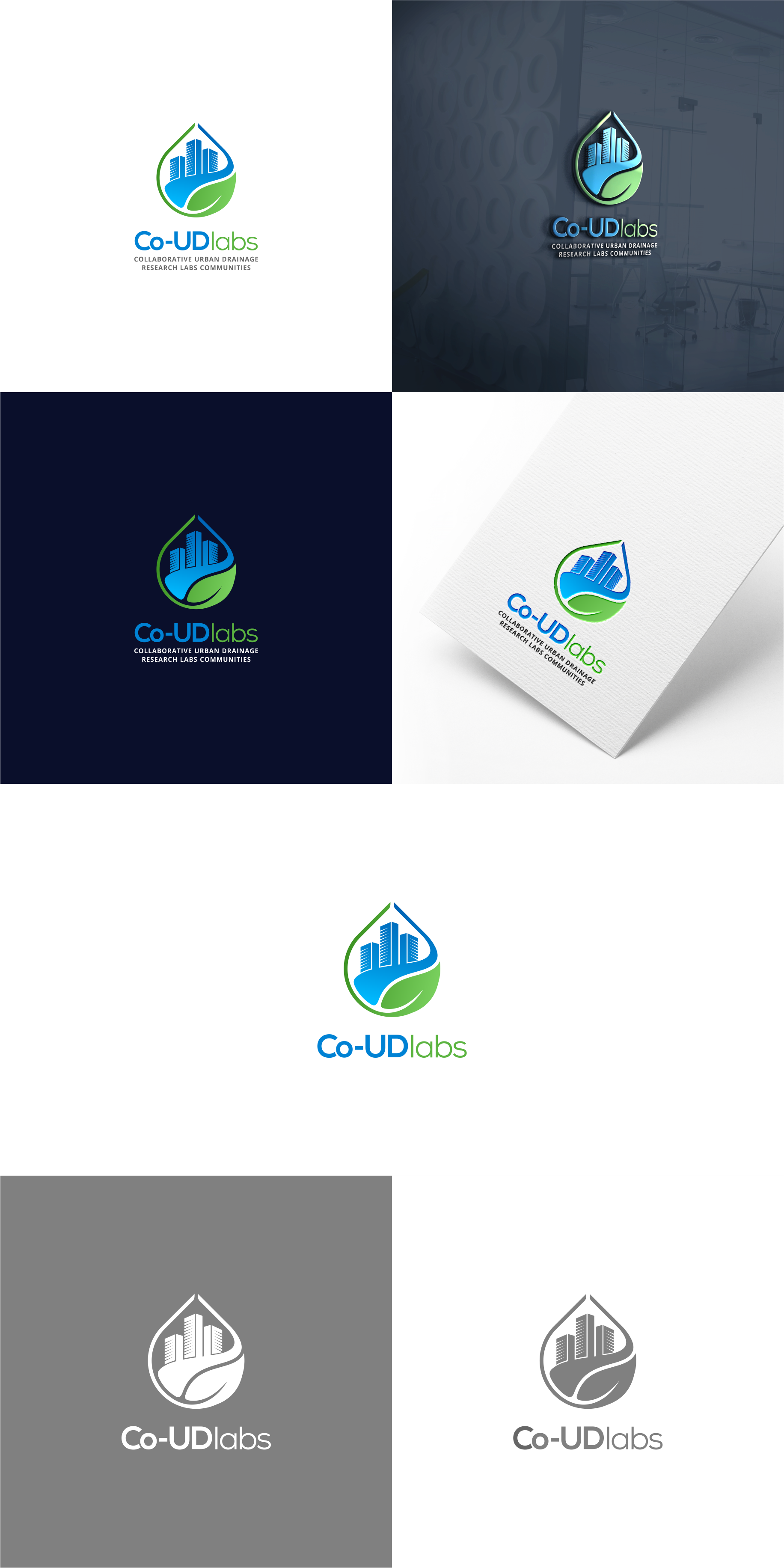 Creation of a logo for a research project on innovative Urban Drainage Systems: Co-UDlabs