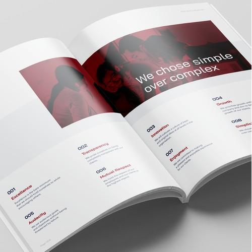 Brochure for innovative tech company