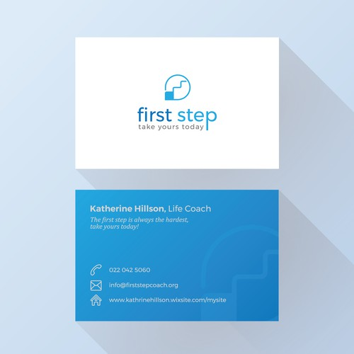 Clean logo and business card design