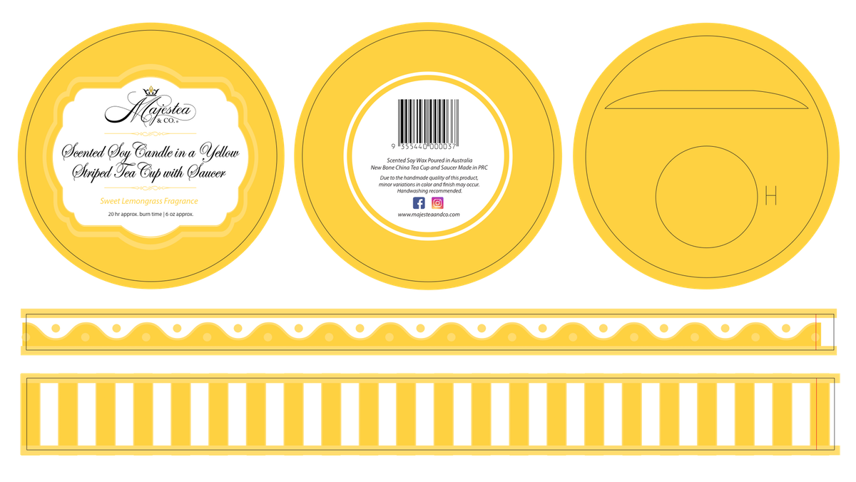 Packaging for tea cup candles