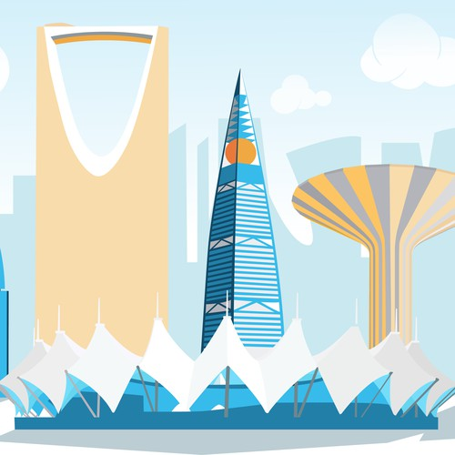 Riyadh skyline illustration