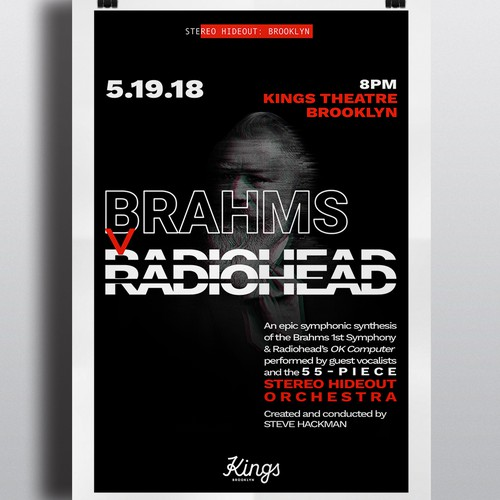 Musical event poster design