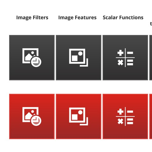 Icons for Image Processing Application
