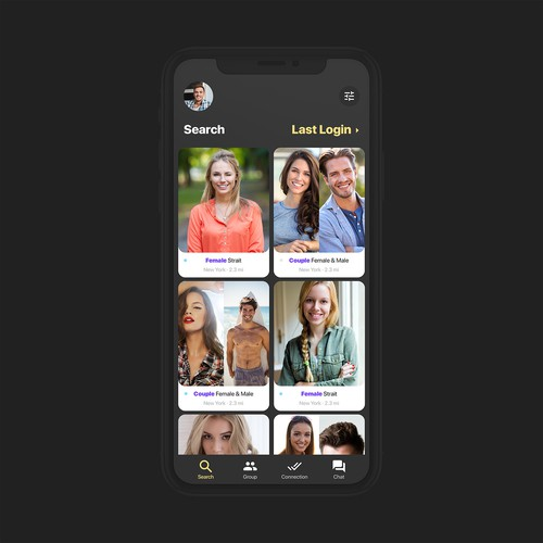 UI/UX design for a new dating app