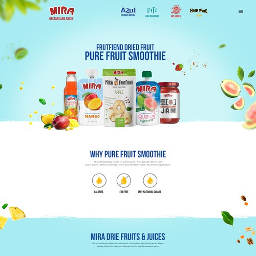 Fruit Softdrink landing page design