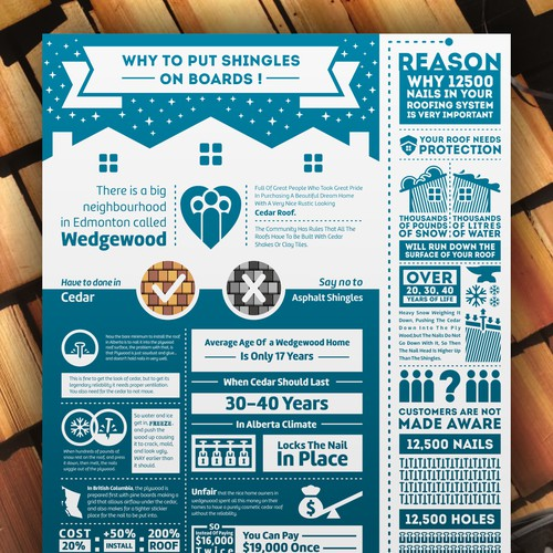infographic, roofing, brochure