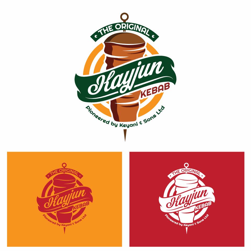 Create a great logo for my new mixed kebab product called 'Kayjun kebab.'