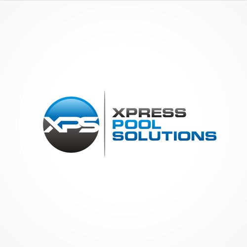 Create a fresh modern logo for Xpress pool solutions
