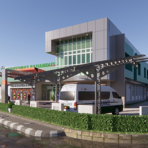 Rendering And Design Public Health Center
