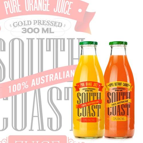 Hipster Look for New Cold Press Juice Bottle Label Design