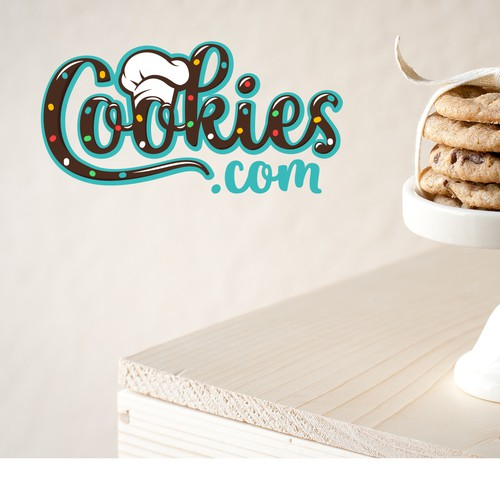 Fun and bright logo for Cookies.com