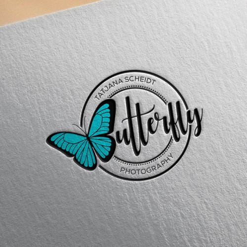 Creative logo for butterfly photografy