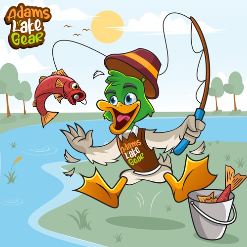 Duck logo character