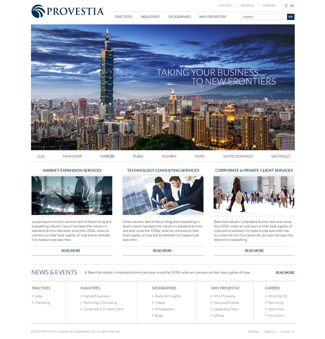 Give us a great Website for PROVESTIA