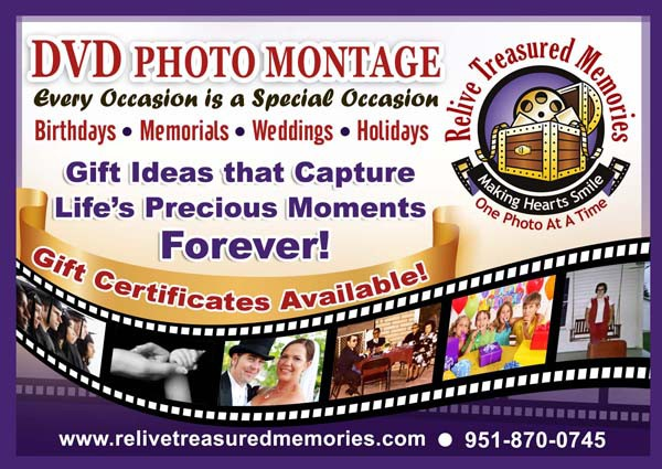 Help Relive Treasured Memories with a new postcard or flyer