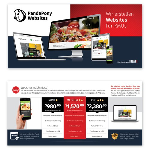 Panda Pony websites brochure design