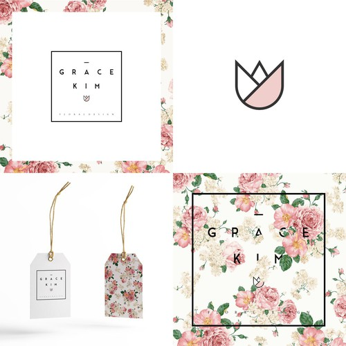 Flower Logo for Floral Designer