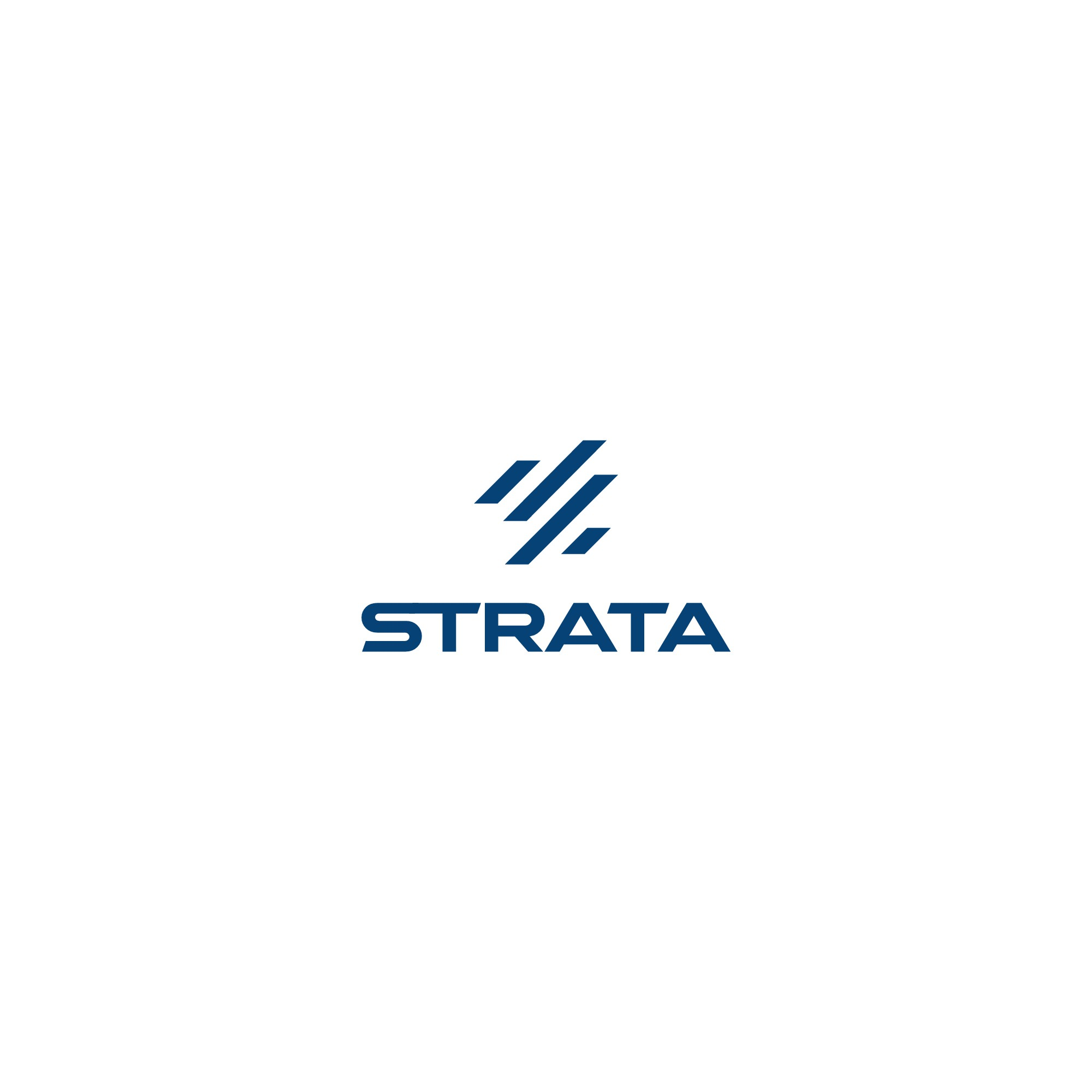 I need a logo for Strata, a premium trading card game accessory company